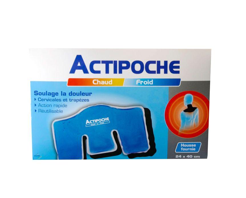 actipoche chaud froid douleurs musculaires cervicales et trap zes 24 x 40 cm. Black Bedroom Furniture Sets. Home Design Ideas