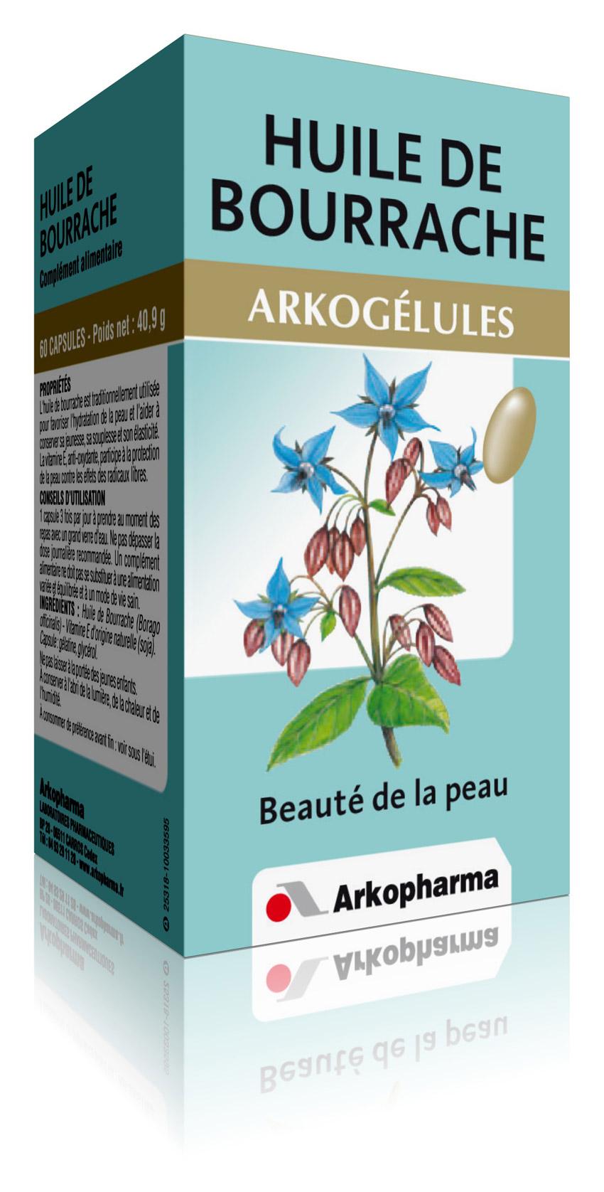 arkog lules huile de bourrache 60 g lules arkopharma 3401547941035. Black Bedroom Furniture Sets. Home Design Ideas