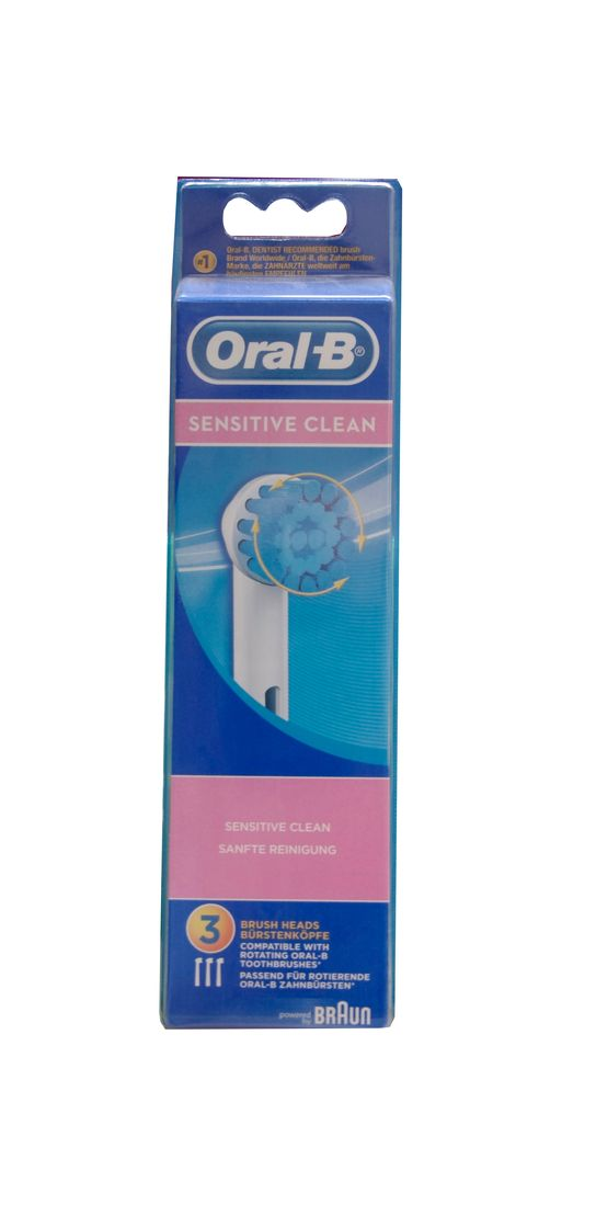 oral b recharge sensitive clean lot de 3 pharmacie fran aise en ligne. Black Bedroom Furniture Sets. Home Design Ideas